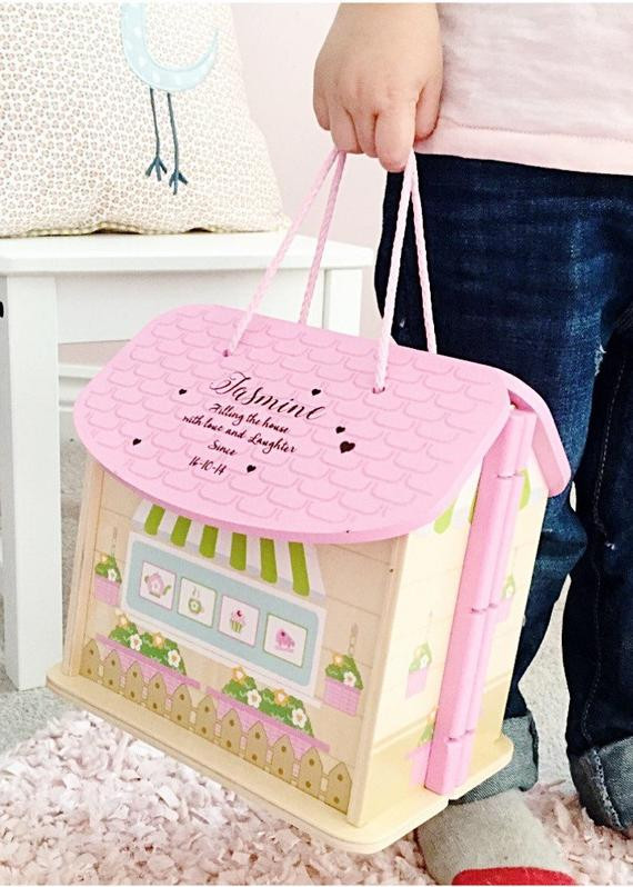 First Birthday Gift Ideas For Girls  Girls first birthday t personalised dolls house 1st