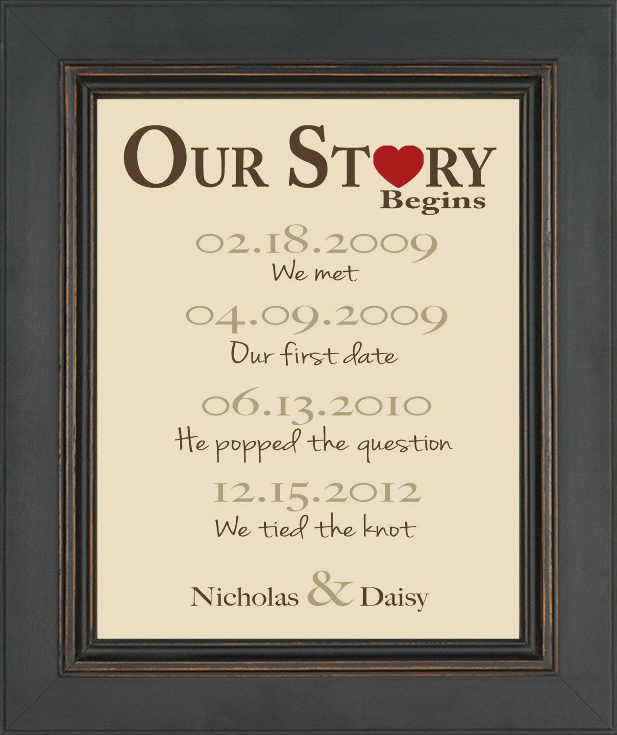 First Valentine'S Day Gift Ideas  First Anniversary Gift Gift for Husband or Wife