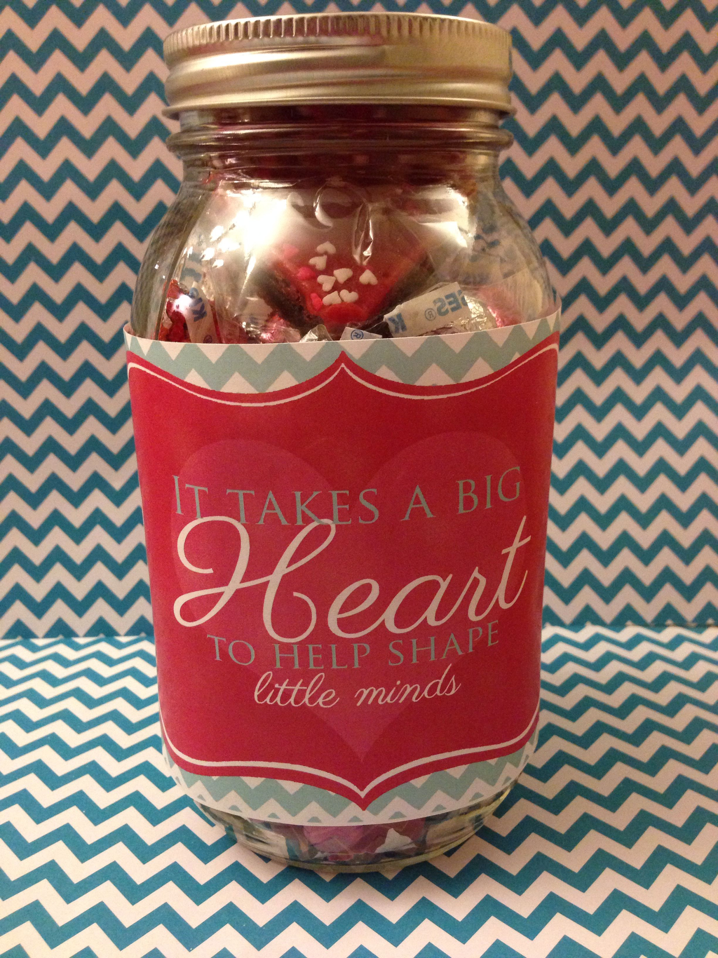 First Valentine'S Day Gift Ideas  Valentines day t for our daycare provider Isabella