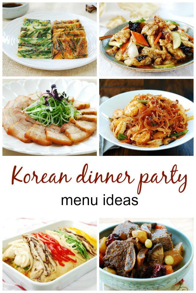 Food Ideas For Dinner Party  Menus for Korean Dinner Parties Korean Bapsang