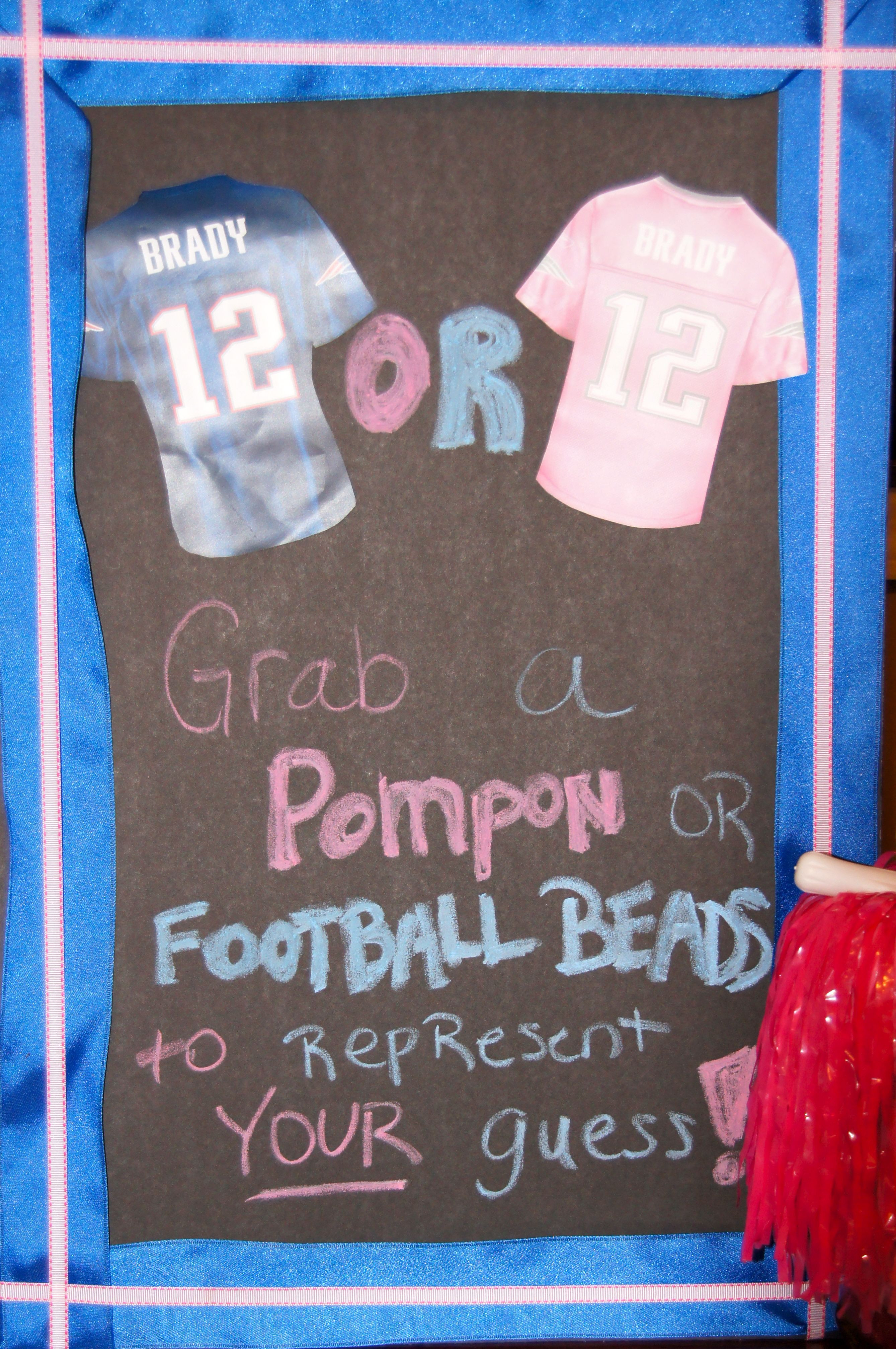 Football Gender Reveal Party Ideas  Football gender reveal patriots theme