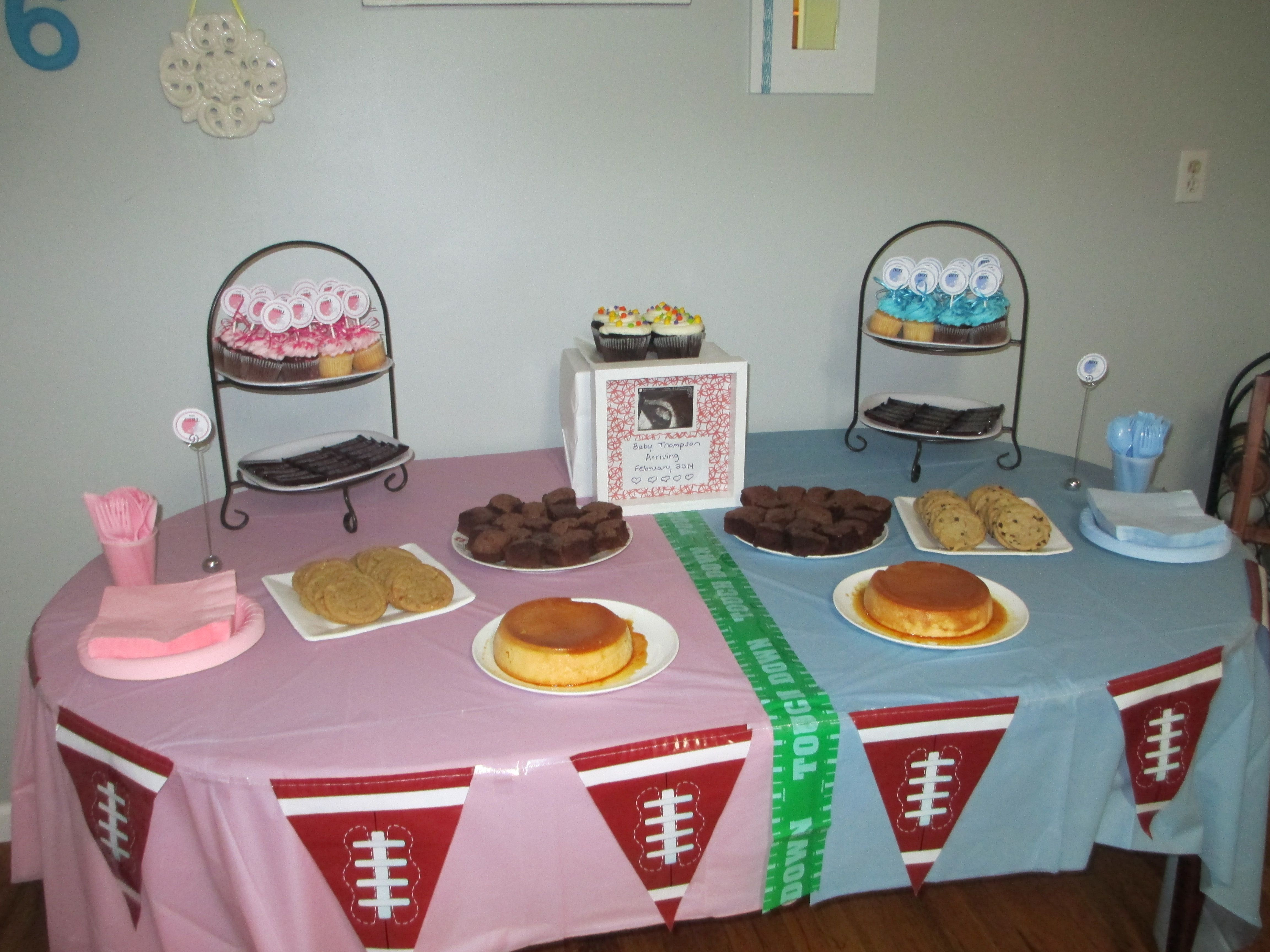 Football Gender Reveal Party Ideas  Football themed Gender Reveal Pink VS Blue