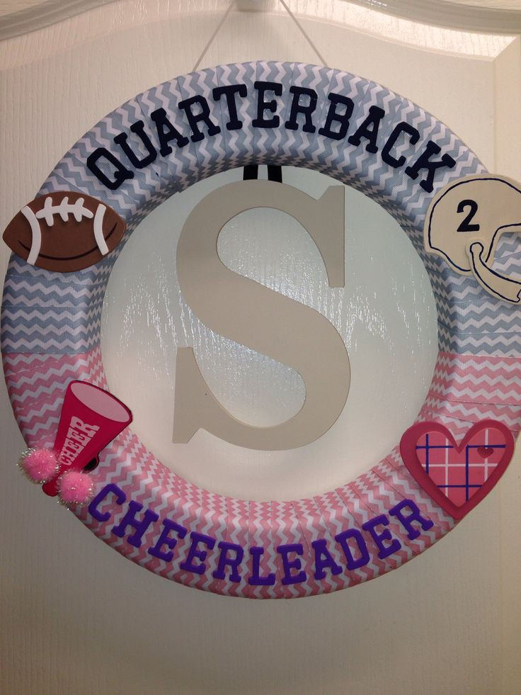 Football Gender Reveal Party Ideas  12 best Reveal Party Ideas images on Pinterest