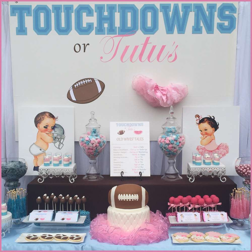 Football Gender Reveal Party Ideas  Touchdowns or Tutu s Gender Reveal Party Ideas