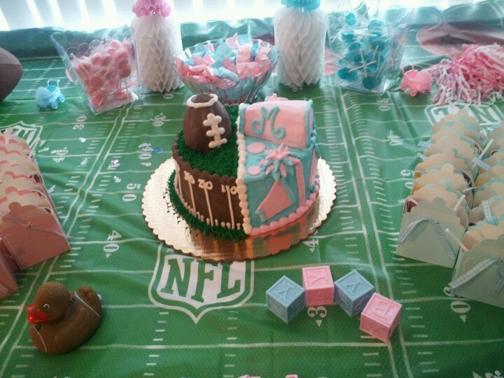 Football Gender Reveal Party Ideas  Team pink or team blue super bowl themed