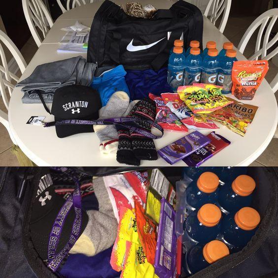 Football Gift Ideas For Boyfriend  Sporty Gift Basket Easy DIY Birthday Gifts for Boyfriend