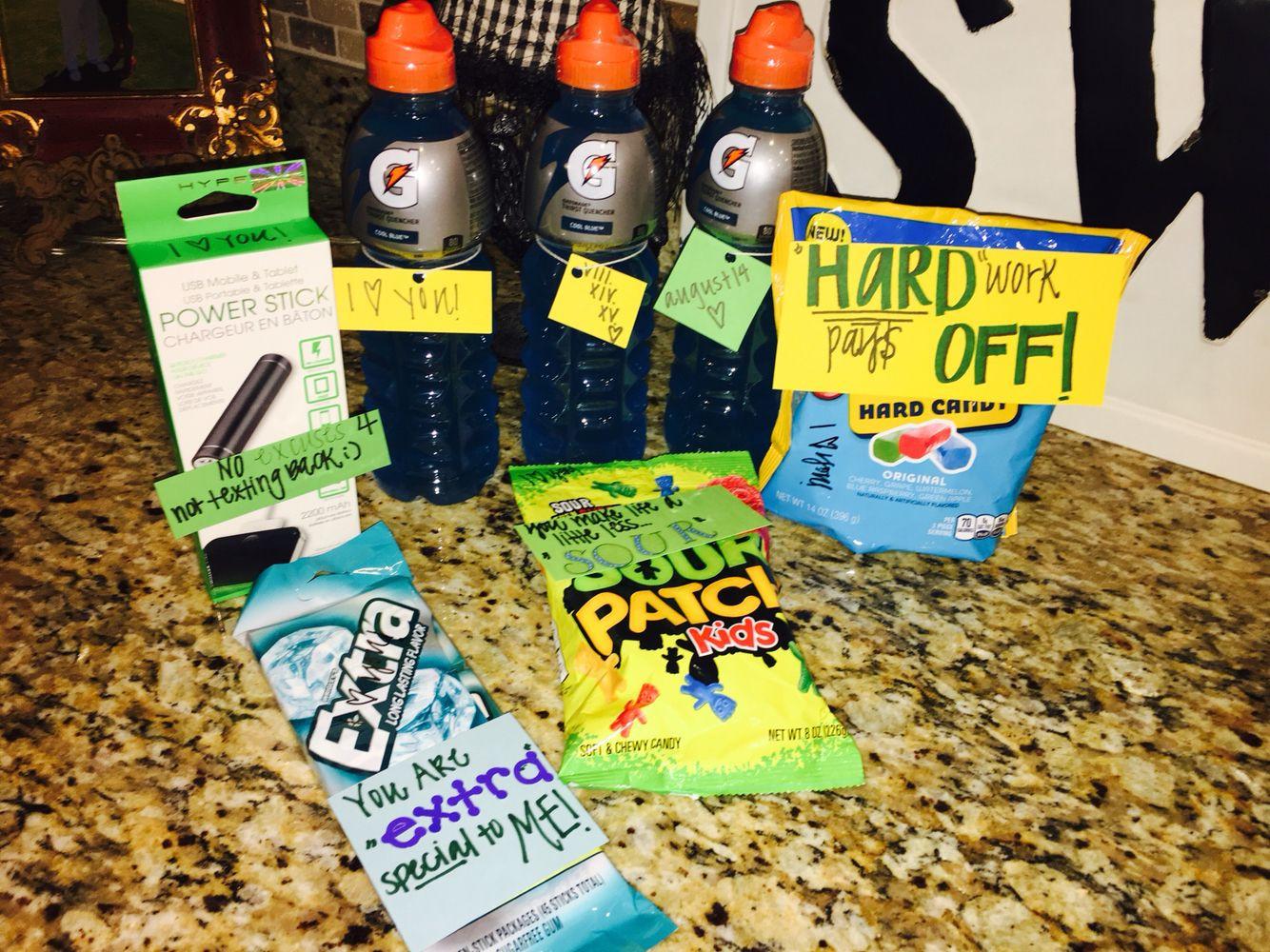 """Football Gift Ideas For Boyfriend  Football boyfriend """"care package"""" D I Y"""