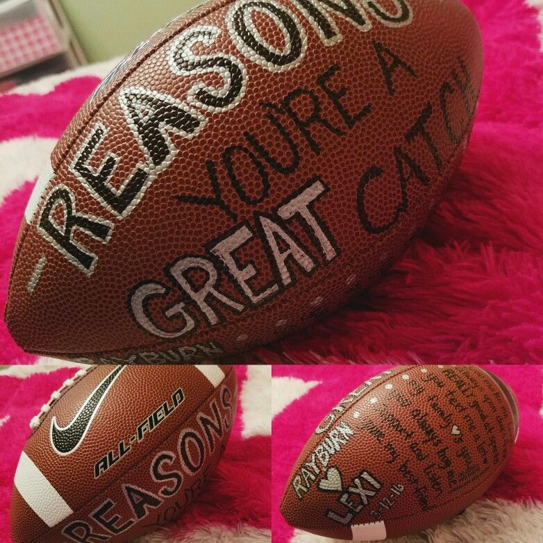 Football Gift Ideas For Boyfriend  Lexi s Boyfriend Valentine s Birthday Football Sports