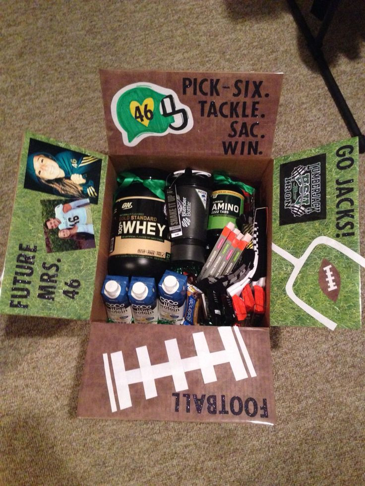 Football Gift Ideas For Boyfriend  College Football Care Package Reece