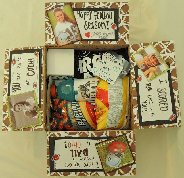 Football Gift Ideas For Boyfriend  Missionary Package Ideas Football theme
