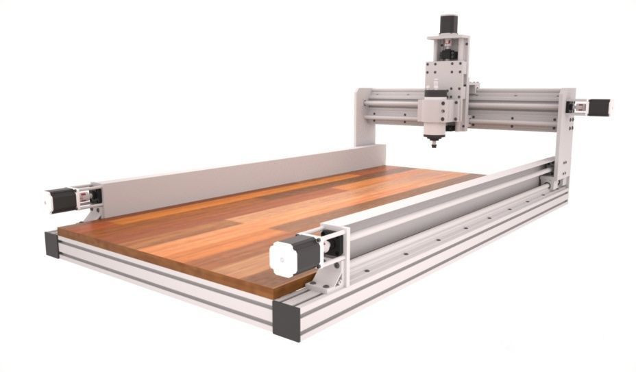 Free DIY Cnc Router Plans  ID2CNC Router Plans v 2 1 – Dual motor and ball screw on