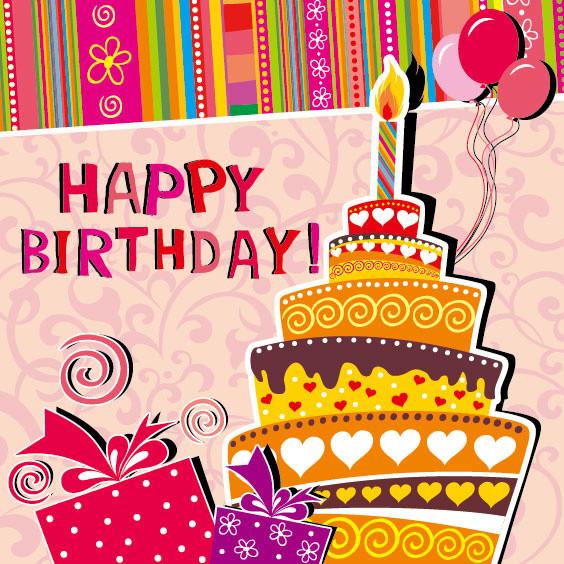 Free Download Birthday Card  Happy birthday cards design free vector 16 027