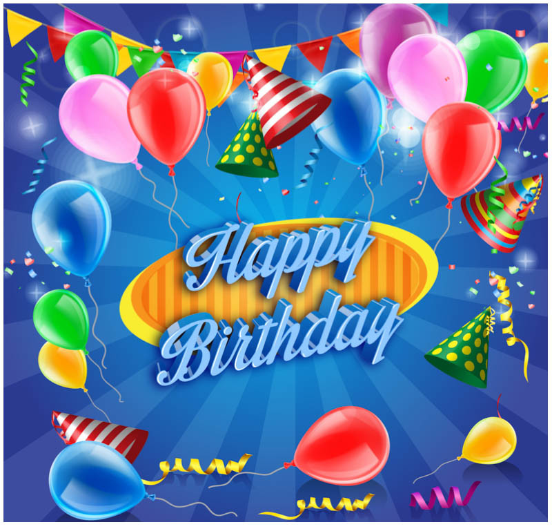 Free Download Birthday Card  10 Free Vector PSD Birthday Celebration Greeting Cards