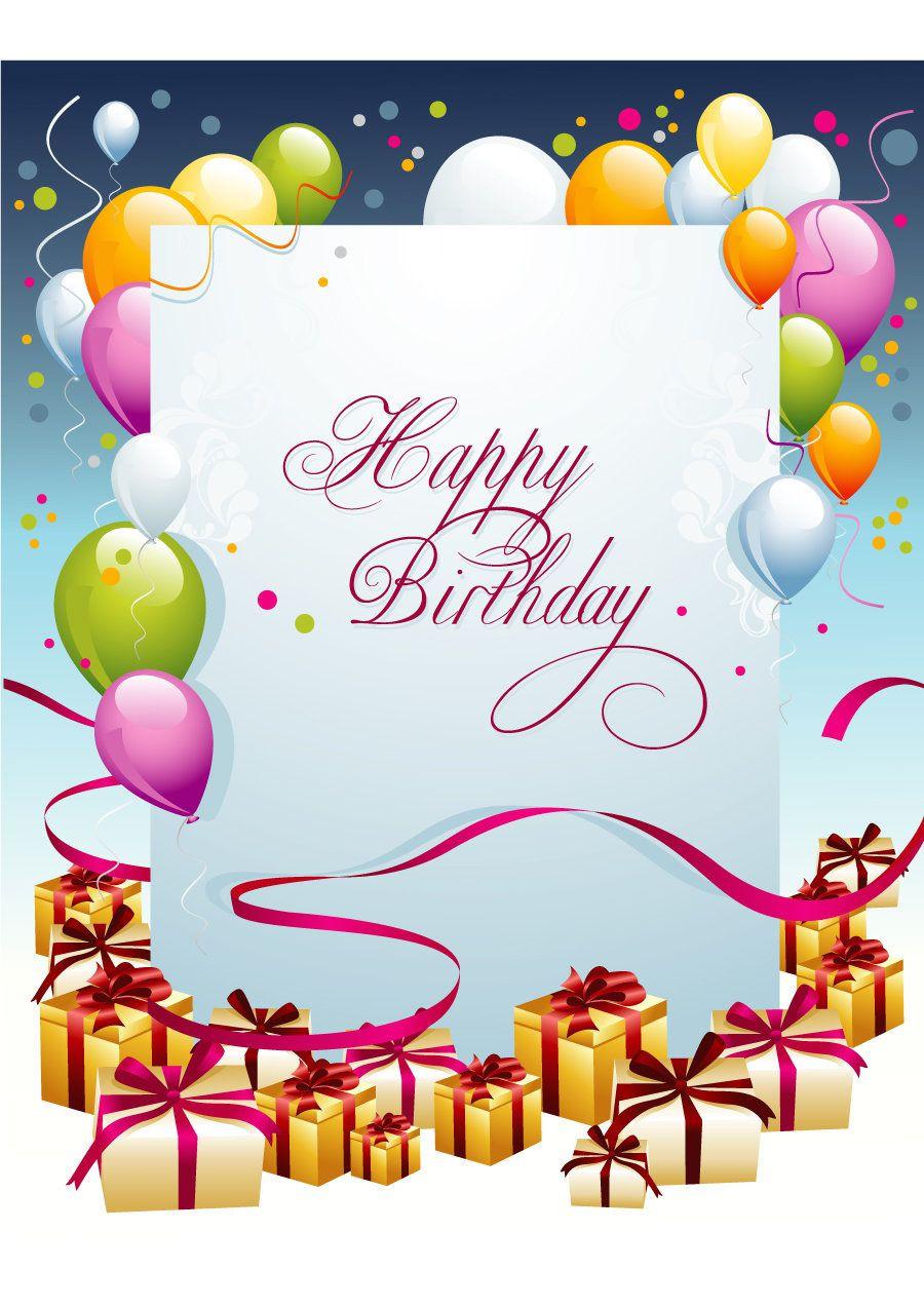 Free Download Birthday Card  Geburtstagskarte Ausdrucken