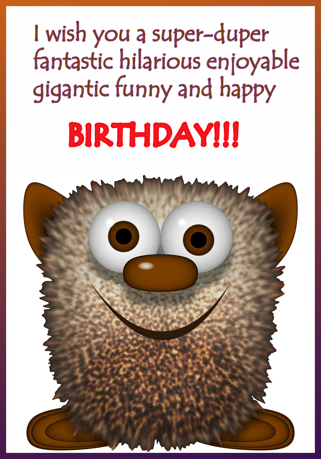 Free Happy Birthday Images Funny  Funny Printable Birthday Cards
