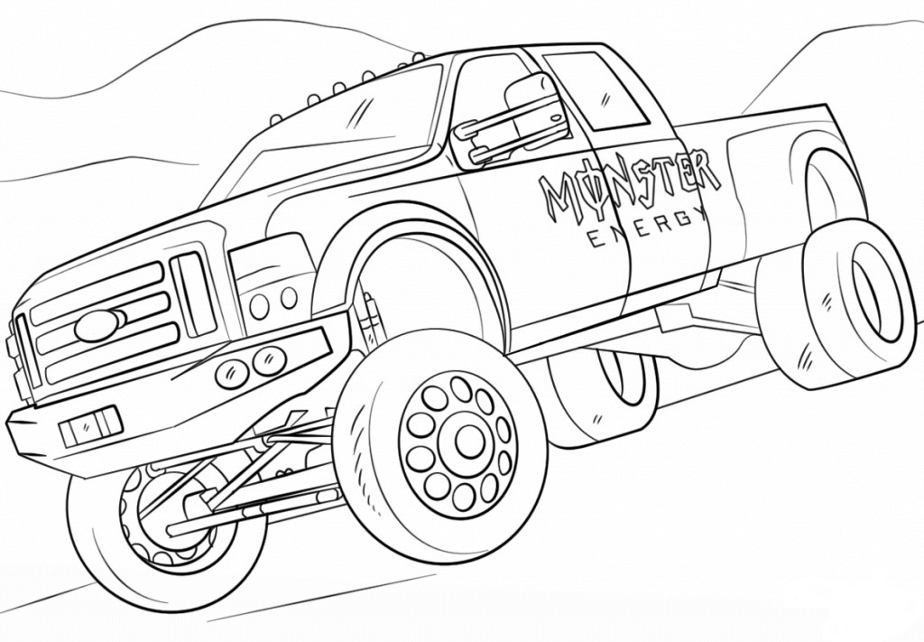 Free Monster Truck Coloring Pages  10 Monster Jam Coloring Pages To Print