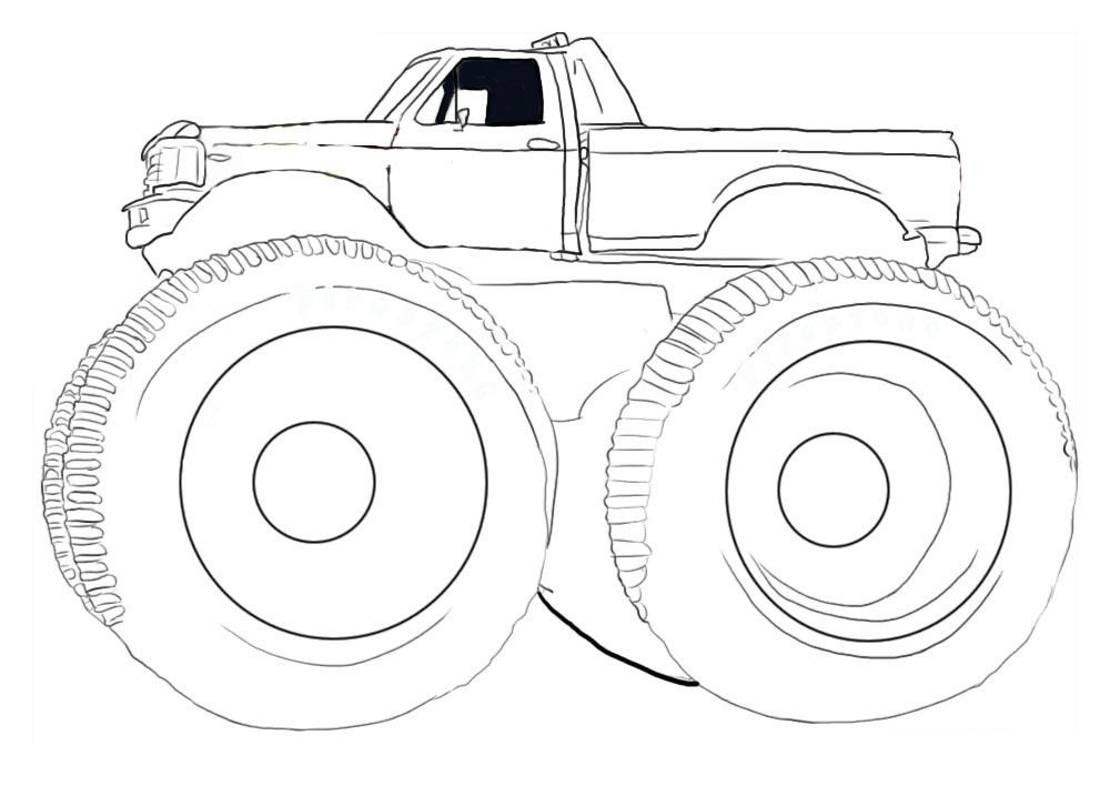 Free Monster Truck Coloring Pages  Free Printable Monster Truck Coloring Pages For Kids
