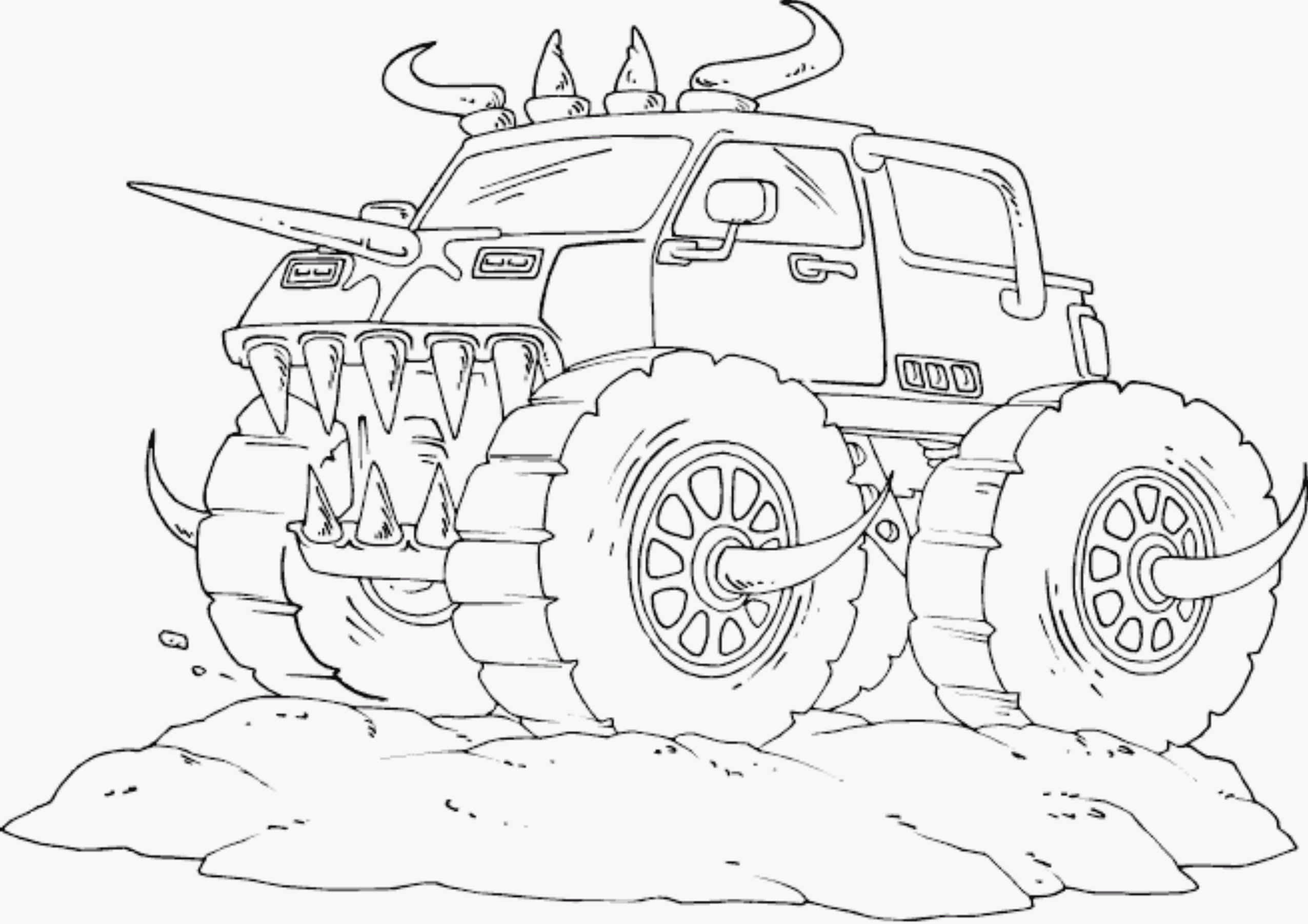 Free Monster Truck Coloring Pages  Drawing Monster Truck Coloring Pages with Kids