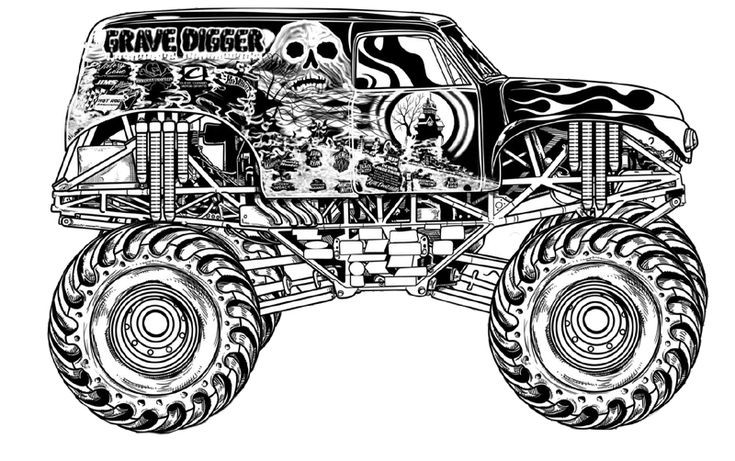 Free Monster Truck Coloring Pages  Free monster truck coloring pages
