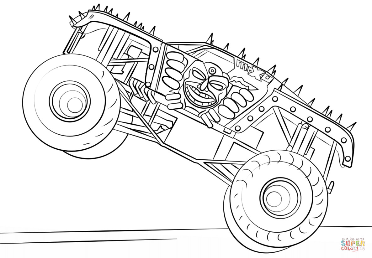 Free Monster Truck Coloring Pages  Max D Monster Truck coloring page