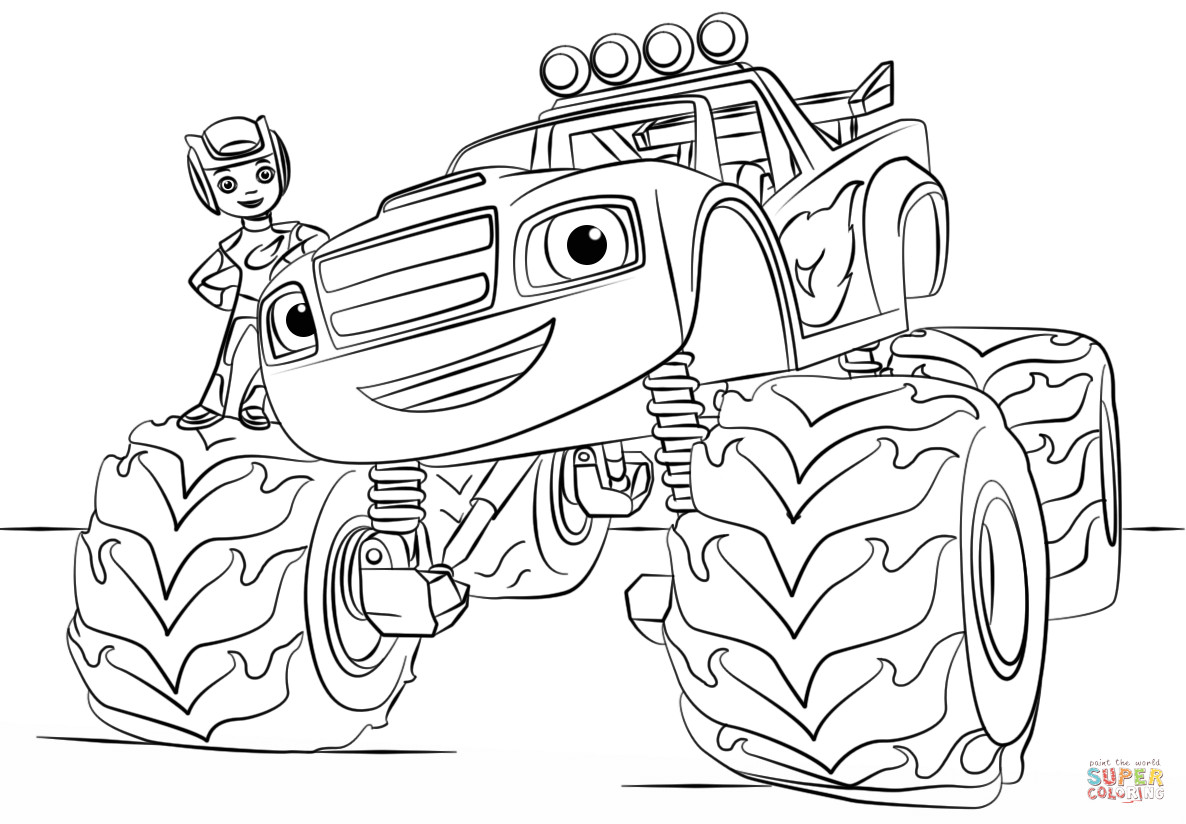 Free Monster Truck Coloring Pages  Monster Truck Coloring Pages For Kids AZ Coloring Pages