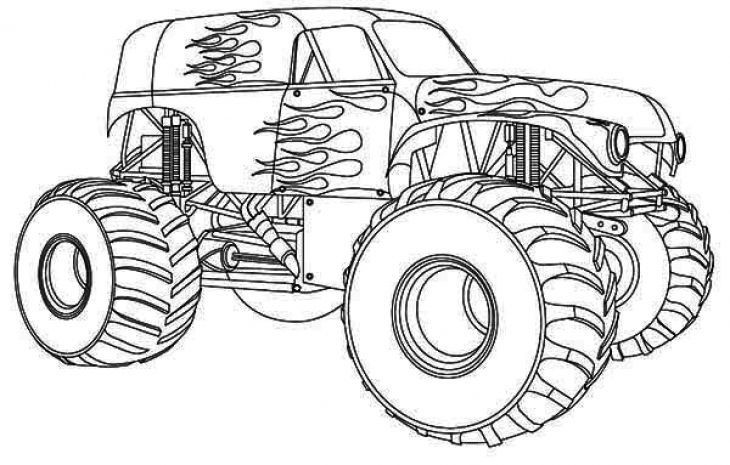 Free Monster Truck Coloring Pages  Free Monster Truck Coloring Page