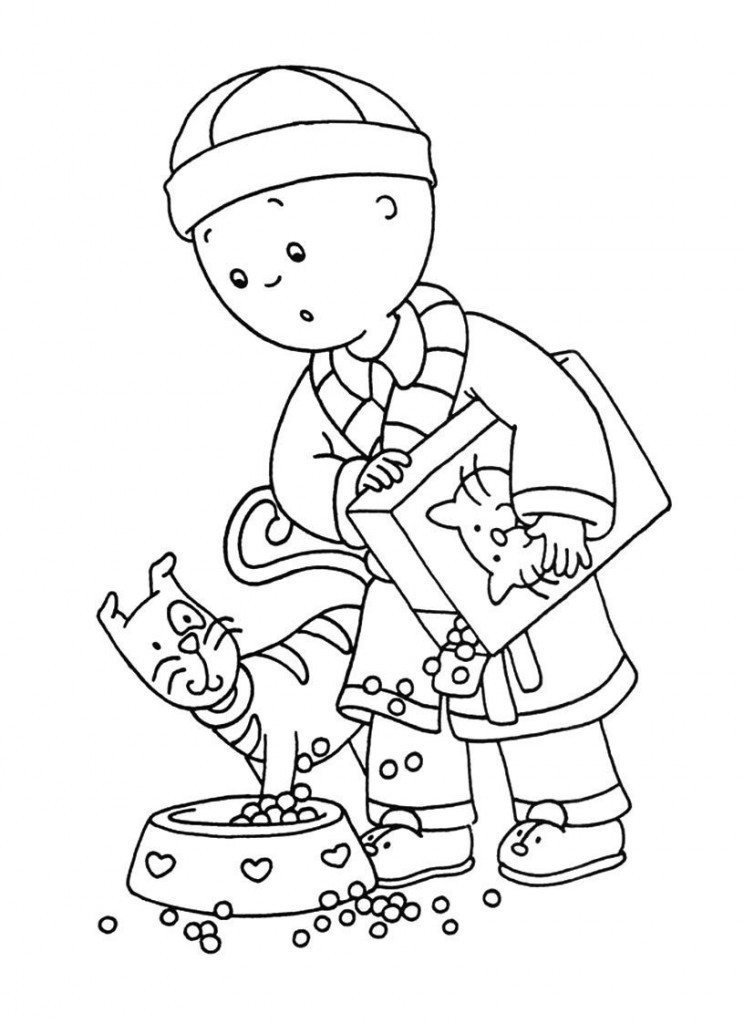 Free Online Coloring Pages  Free Printable Caillou Coloring Pages For Kids