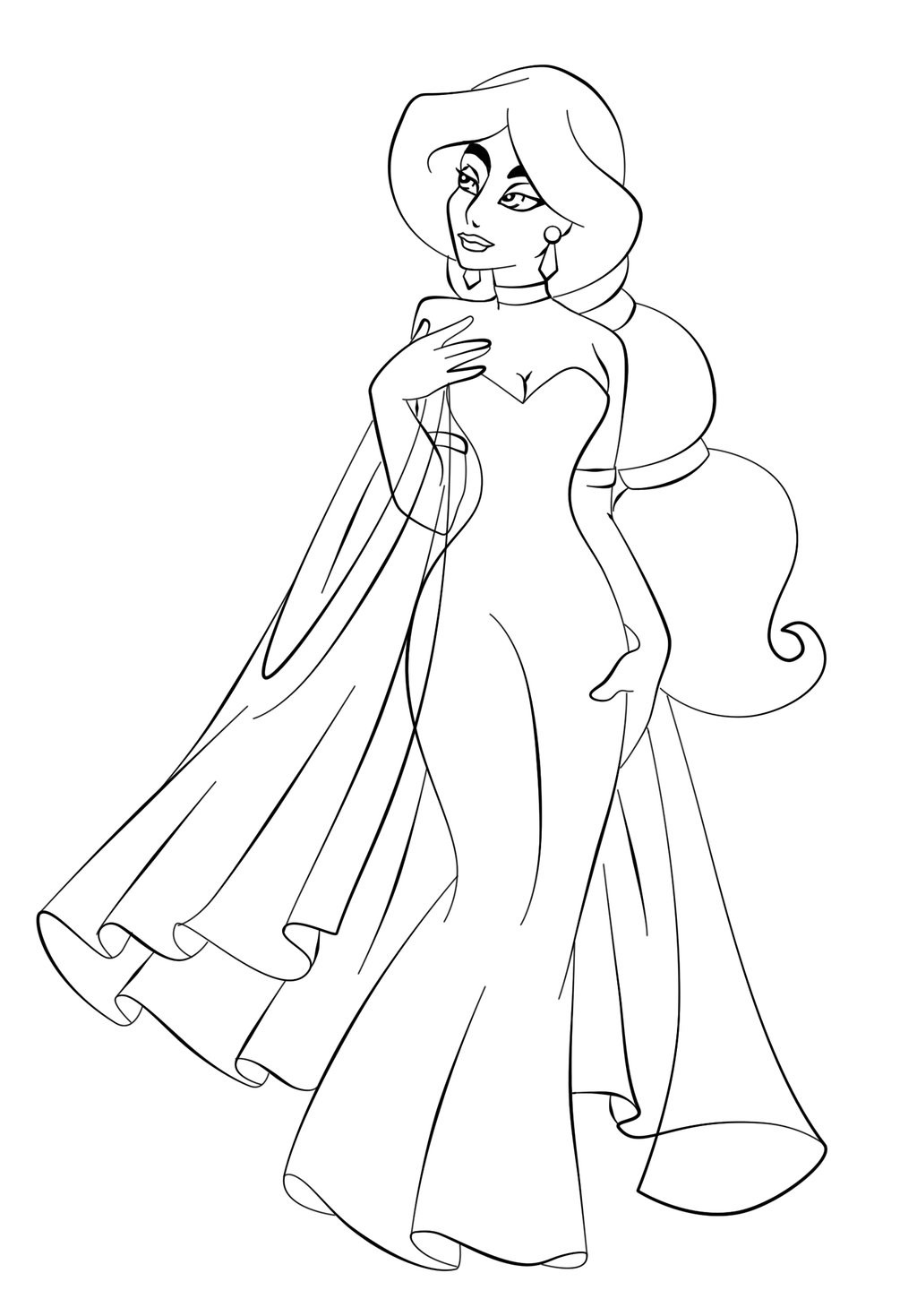 Free Online Coloring Pages  Free Printable Jasmine Coloring Pages For Kids Best