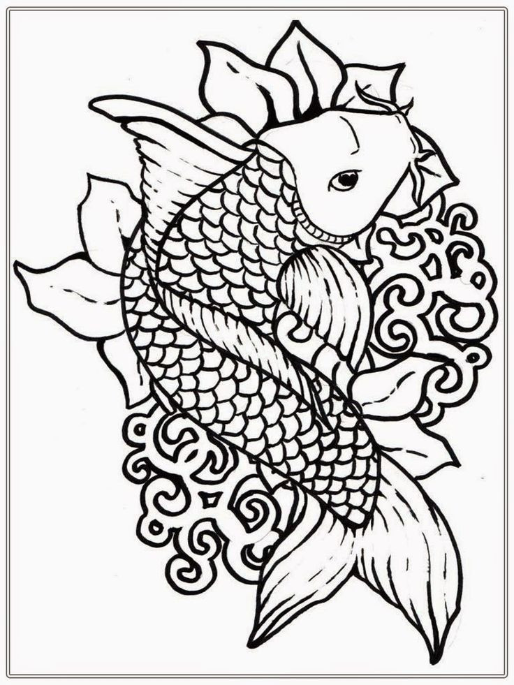 Free Online Coloring Pages  Adult Free Fish Coloring Pages