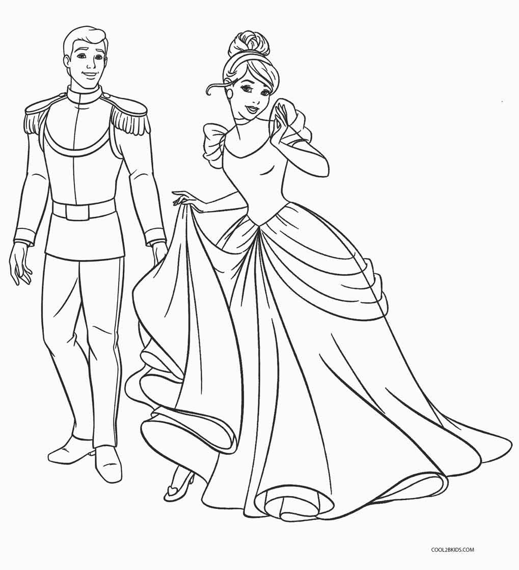 Free Online Coloring Pages  Free Printable Cinderella Coloring Pages For Kids