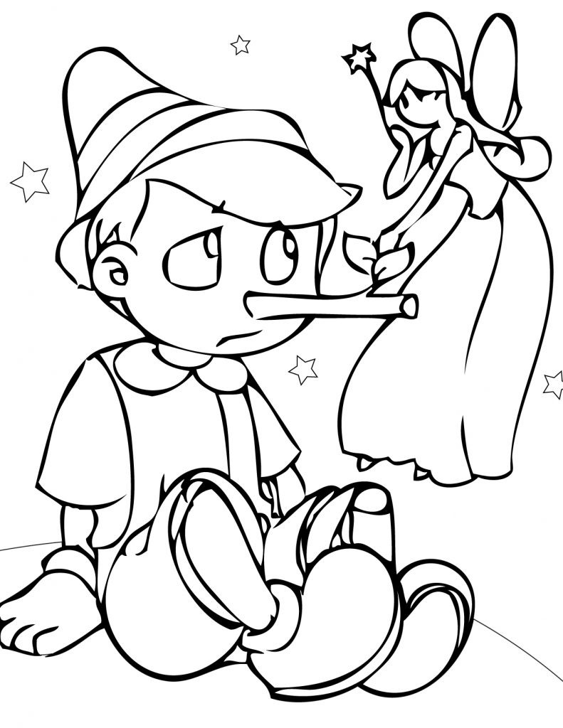 Free Online Coloring Pages  Free Printable Pinocchio Coloring Pages For Kids
