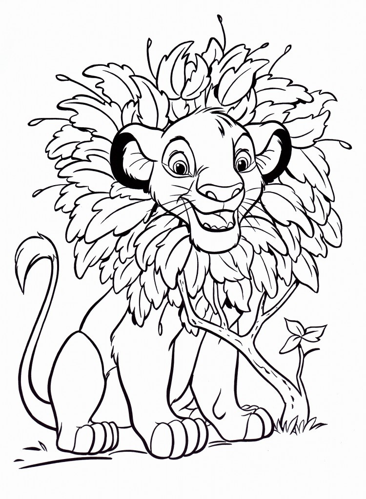 Free Online Coloring Pages  Free Printable Simba Coloring Pages For Kids