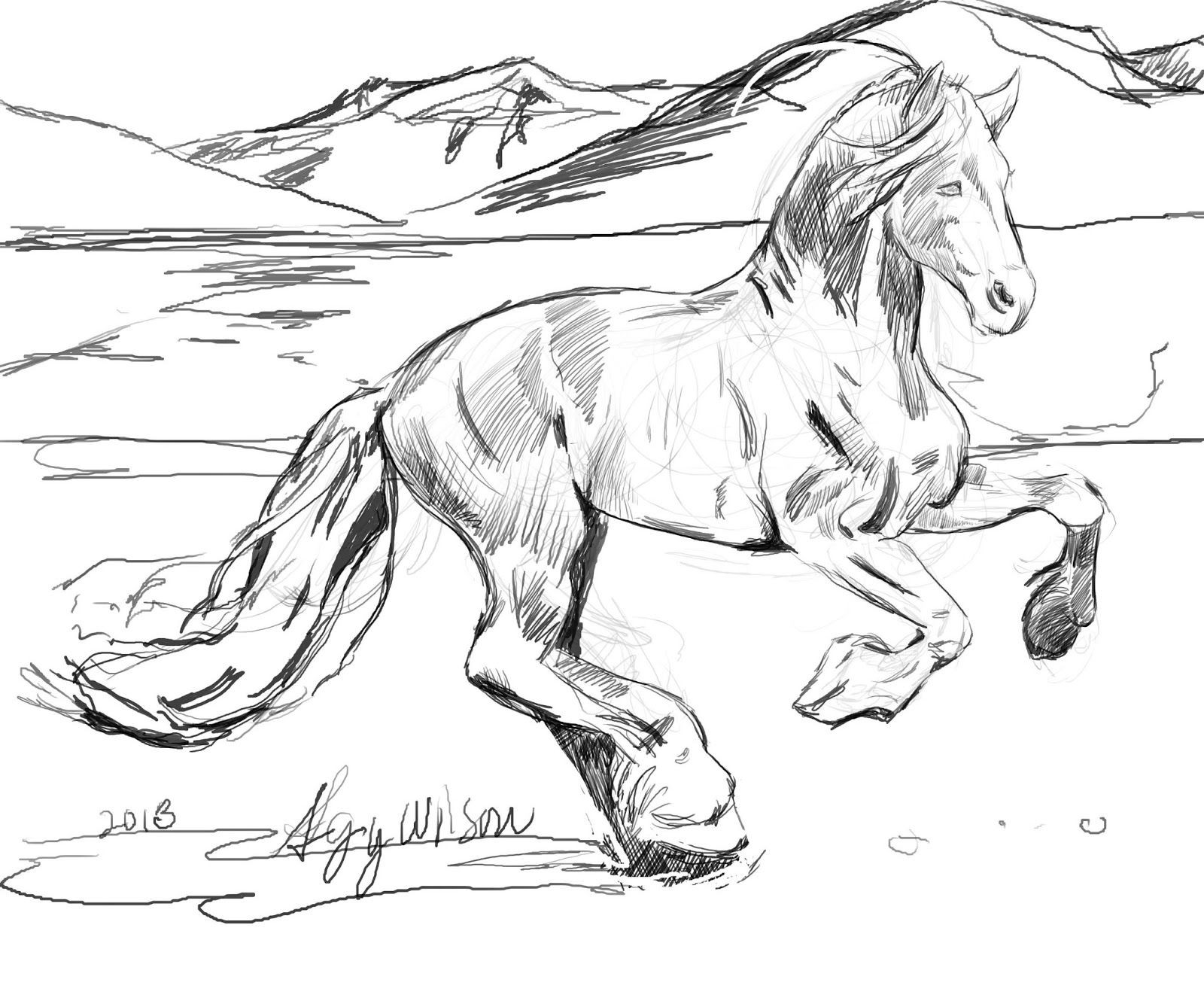 Free Printable Realistic Horse Coloring Pages  Free Printable Realistic Horse Coloring Pages AZ