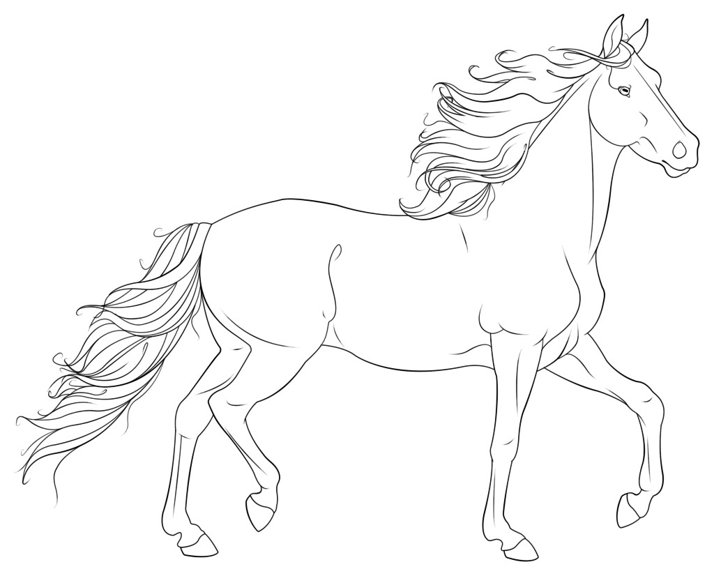 Free Printable Realistic Horse Coloring Pages  Horse Abstract Coloring Pages For Adults Coloring Pages
