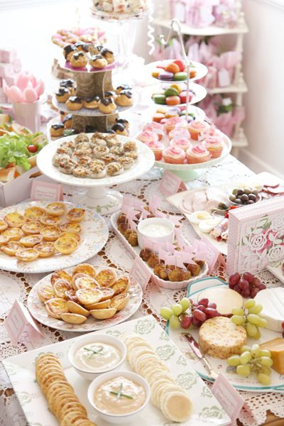 French Tea Party Ideas  French baby shower food ideas lil croissants with nutella