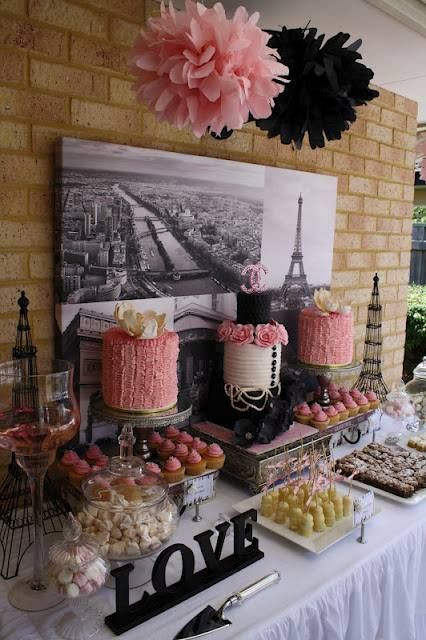 French Tea Party Ideas  22 Chic Parisian Themed Bridal Shower Ideas crazyforus