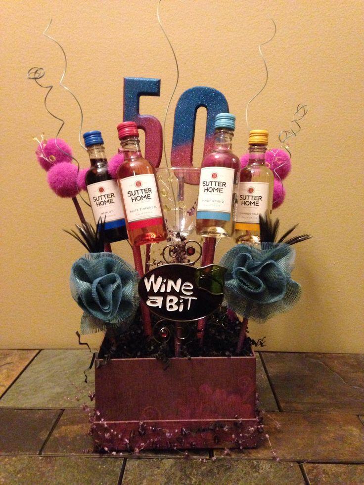 Friend 50Th Birthday Gift Ideas  50th Birthday Basket