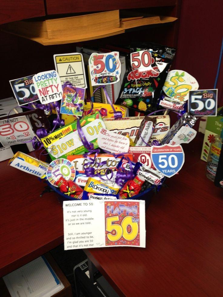 Friend 50Th Birthday Gift Ideas  50th birthday t basket Ideas