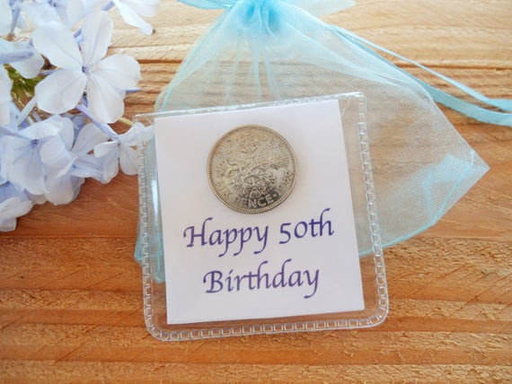 Friend 50Th Birthday Gift Ideas  50th birthday t ideas lucky sixpence t friends 50th