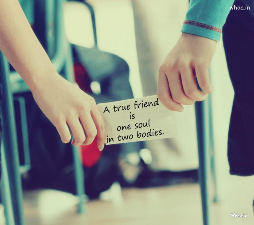 Friendship Pics With Quotes  A True Friend Friendship Day Quote In Couples Hand Love