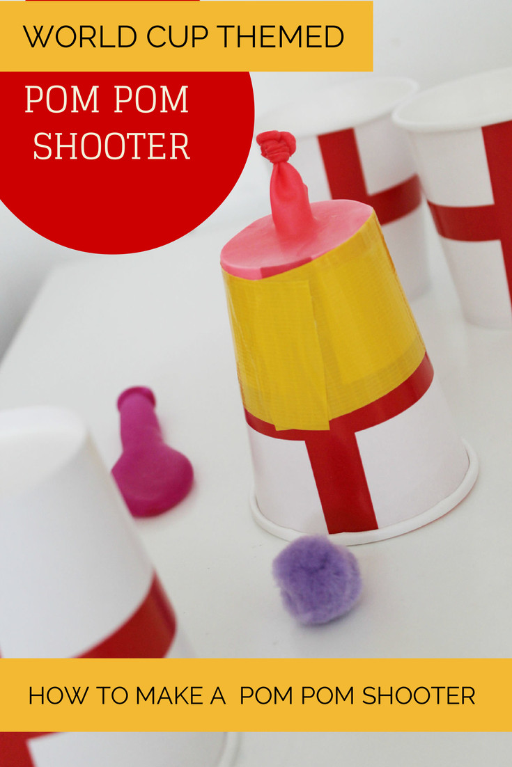 Fun Craft For Preschoolers  How to make a Pom Pom shooter In The Playroom