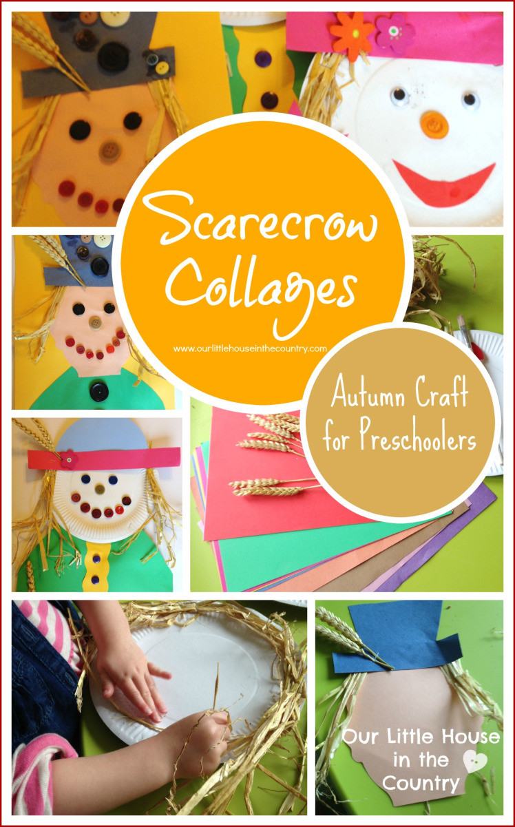 Fun Craft For Preschoolers  Scarecrow Collages – Autumn Fall Crafts for Kids