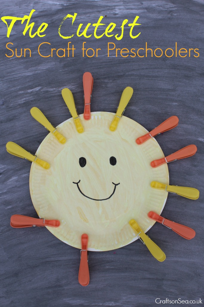 Fun Craft For Preschoolers  The Cutest Sun Craft for Preschoolers Crafts on Sea