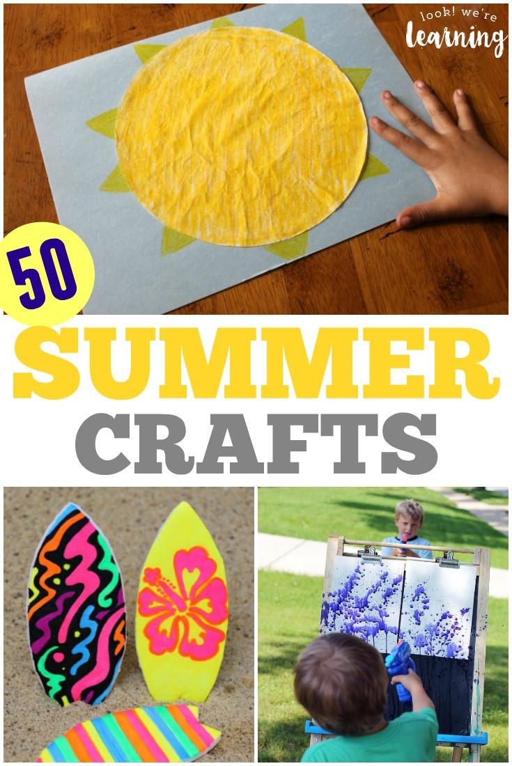 Fun Craft For Preschoolers  50 Super Easy Super Fun Summer Crafts for Kids