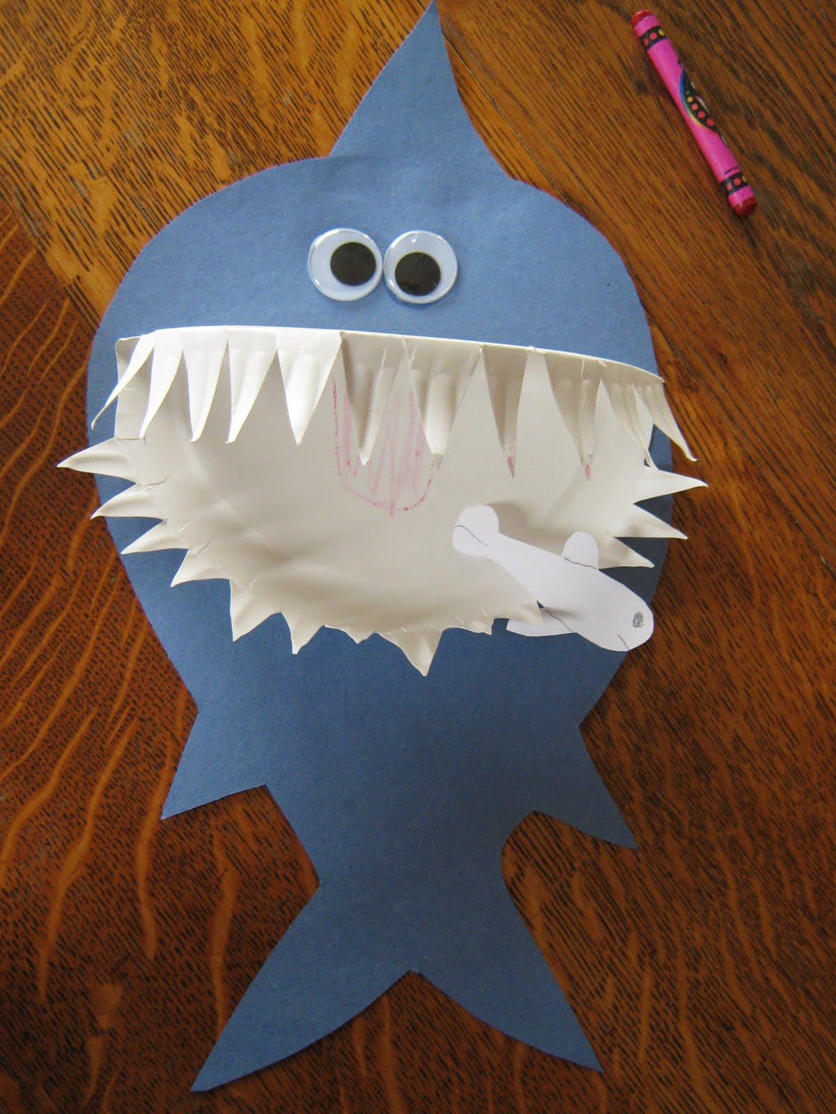 Fun Craft For Preschoolers  Paper Plate Shark