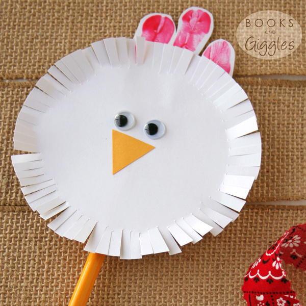 Fun Craft For Preschoolers  Spinning Chicken Craft for Toddlers & Preschoolers