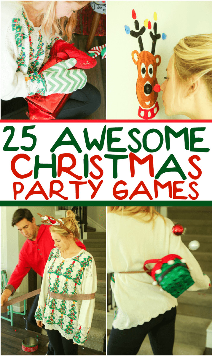 Fun Work Christmas Party Ideas  25 Hilarious Christmas Games for Kids & Adults Play