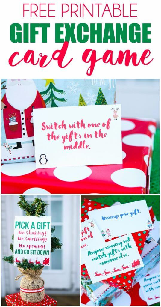 Funny Holiday Gift Exchange Ideas  Free Printable Exchange Cards for The Best Holiday Gift