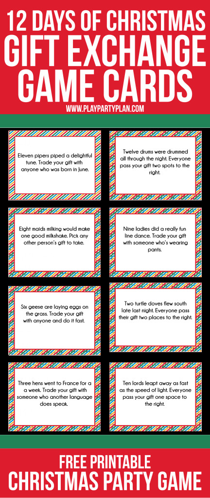 Funny Holiday Gift Exchange Ideas  12 Days of Christmas Party Ideas & Gift Exchange Game