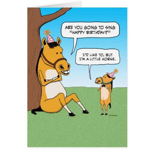 Funny Horse Birthday Pictures  Funny Little Horse Birthday Card